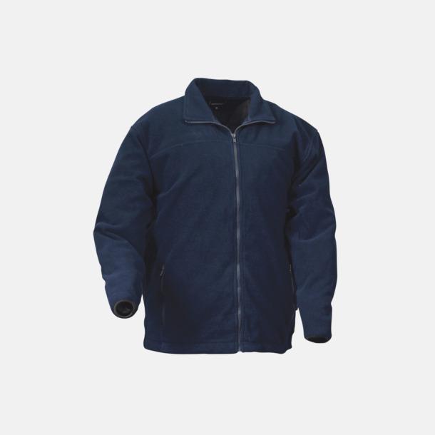 Marinblå Fleecejacka plain med eget reklamtryck eller brodyr