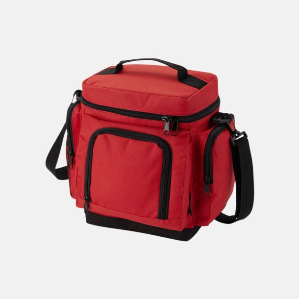 Röd Billig kylväska med många fickor - med reklamtryck