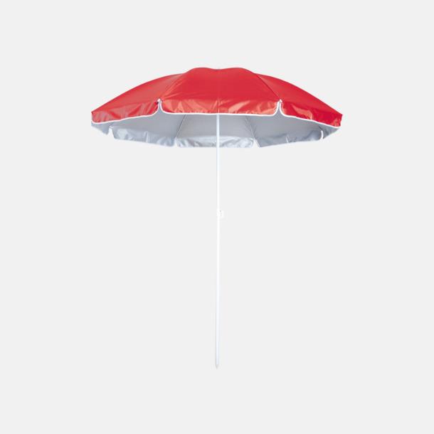 Röd Parasoller för stranden med reklamtryck
