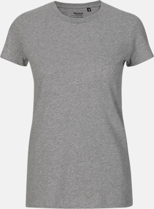 Sports Grey (dam) Fitted t-shirts i ekologisk fairtrade-bomull med tryck