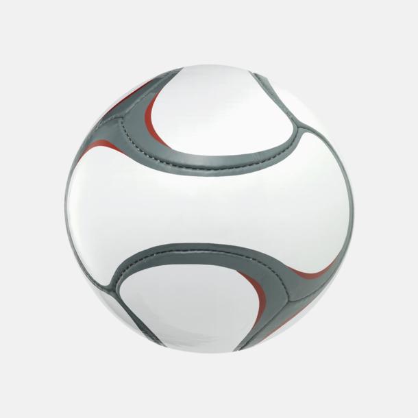 Grå/Röd (2) Designade fotbollar med reklamtryck
