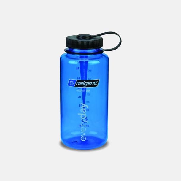 Everyday Blue/Svart (1 l) Färgglada vattenflaskor med eget tryck