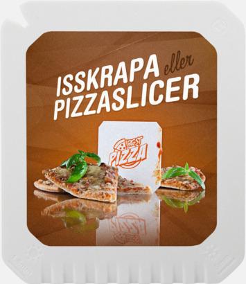 Vit Isskrapor med flera funktioner med reklamtryck