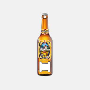 Flaskformade kapsylöppnare med reklamtryck