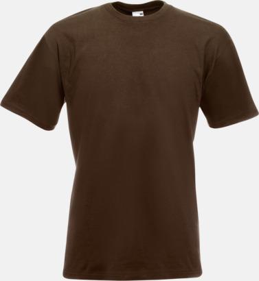 Chocolate Kraftig t-shirt med reklamtryck