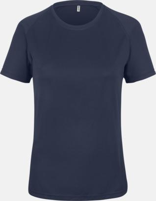 Marinblå Sport t-shirts i många färger för damer - med reklamtryck