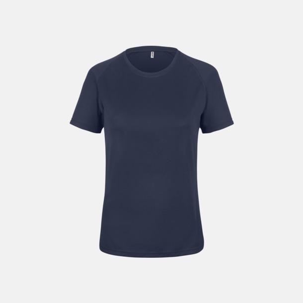 Sporty Navy Sport t-shirts i många färger för damer - med reklamtryck