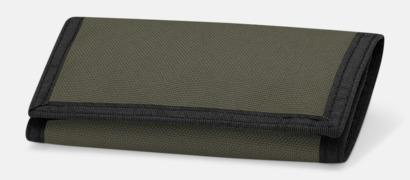 Olivgrön Plånböcker med tryck