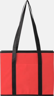 Röd Vikbara bilväskor med reklamtryck