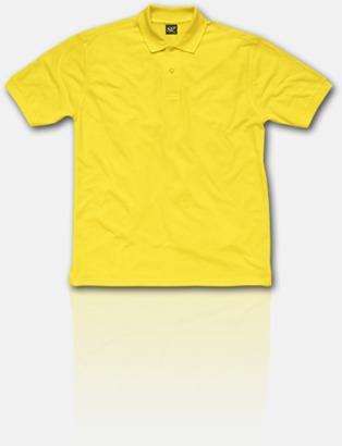 Gul Fina pikétröjor för herr, dam & barn med reklamtryck
