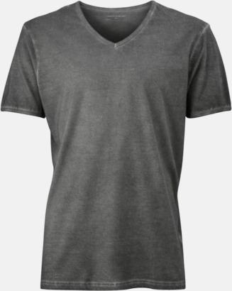 Graphite (herr) Trendiga v-neck t-shirts i herr- och dammodell med reklamtryck