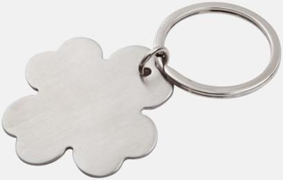 Utan stjälk Nyckelring i form av en klöver med egen gravyr
