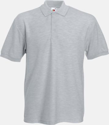 Heather Grey Pikétröjor med tryck eller brodyr