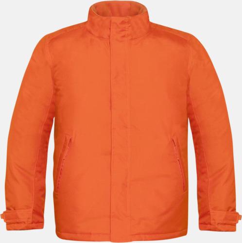Orange (herr) Vinterparka i herr- och dammodell med reklamtryck