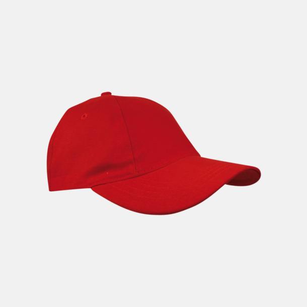 Röd Sportiga kepsar med brodyr eller tryck