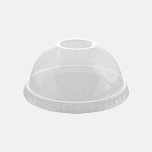 Kuplock med hål Plastmuggar för engångsbruk - med reklamtryck