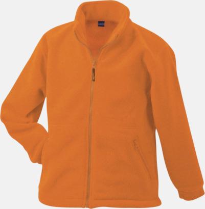 Orange Fleecejackor med egen brodyr