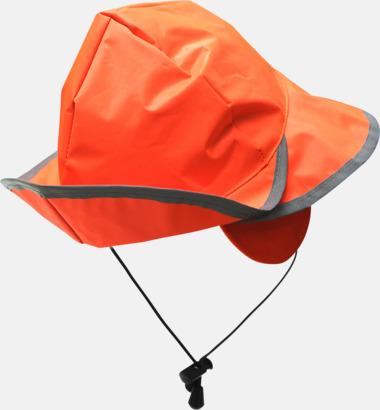 Orange Sydväst reflexhatt med eget tryck