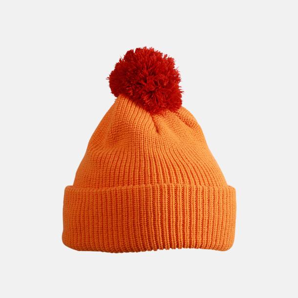 Orange/Rust Toppluvor med uppvik - med brodyr