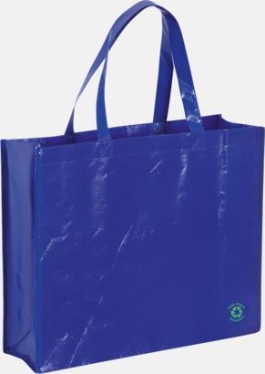 Blå Shoppingbagar med korta handtag - med tryck