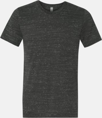 Marble Charcoal (heather) Unisex t-shirts i spräckliga färger med reklamtryck