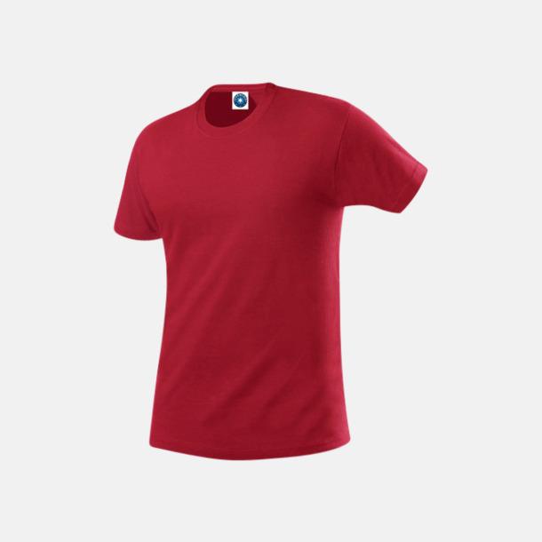 Cardinal Red Herr t-shirts i ekologisk bomull