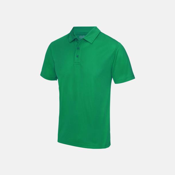 Kelly Green Färgglada pikétröjor med reklamtryck