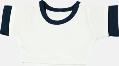 Vit/Marinblå (kontrast) Enfärgade t-shirts eller med färgad kant - med reklamtryck