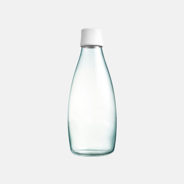 Frosted White Större glasflaskor med reklamtryck