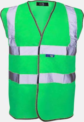 Limegrön Färgglada säkerhetsvästar med reklamtryck