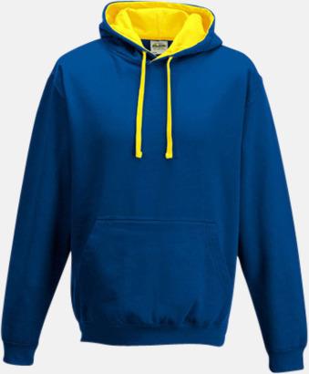 Royal Blue/Sun Yellow Huvtröjor med insida av luva och dragsko i kontrasterande färg - med reklamtryck