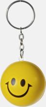Små, leende stressbollar med nyckelring - med reklamtryck