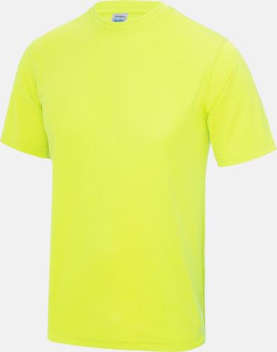 Electric Yellow Billig funktionströja med eget tryck