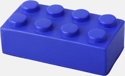 Blå Blockformade stressbollar med reklamtryck