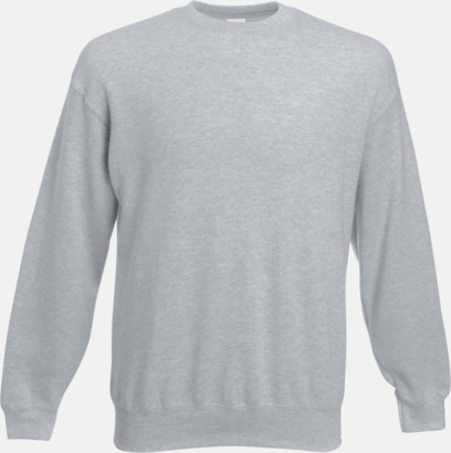 Heather Grey Klassisk sweatshirt med reklamtryck