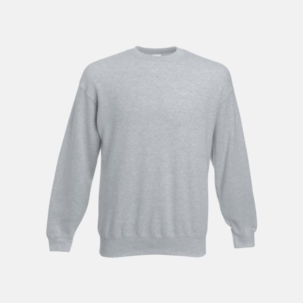 Heather Grey Klassisk sweatshirt med reklamtryck