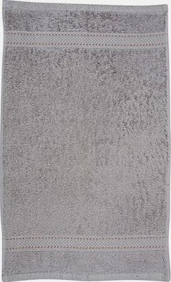 Grey Melange Kvalitetshandduk med egen brodyr
