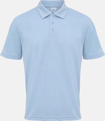 Sky Blue (2) Färgglada pikétröjor med reklamtryck