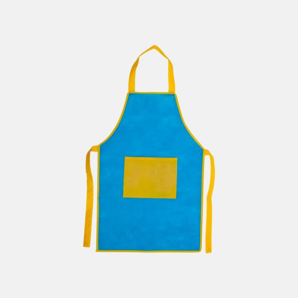 Ljusblå / Gul Förkläden för barn med reklamtryck