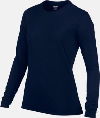 Dam (2) Långärmade funktionströjor för vuxna och barn med reklamtryck