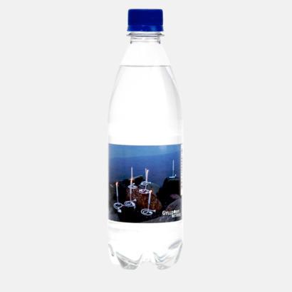 Standard etikett (blå kork) Vatten med egen etikett