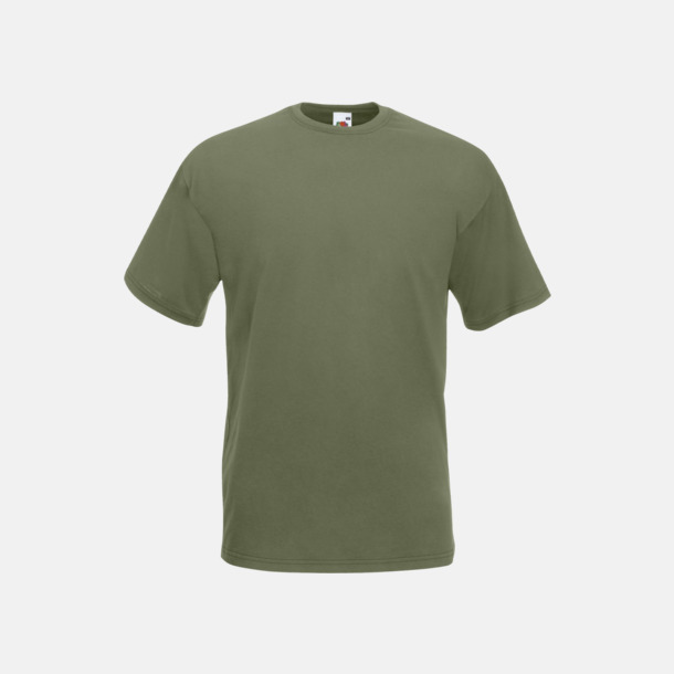 Classic Olive Valueweight t-shirt med tryck