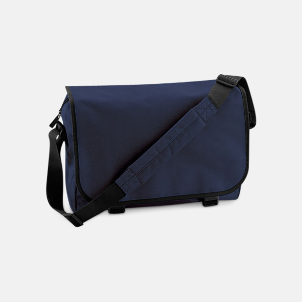 Marinblå/Svart Billiga väskor med reklamtryck