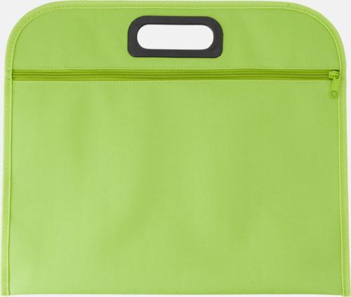 Limegrön Billiga dokumentfodral i många färger - med reklamtryck