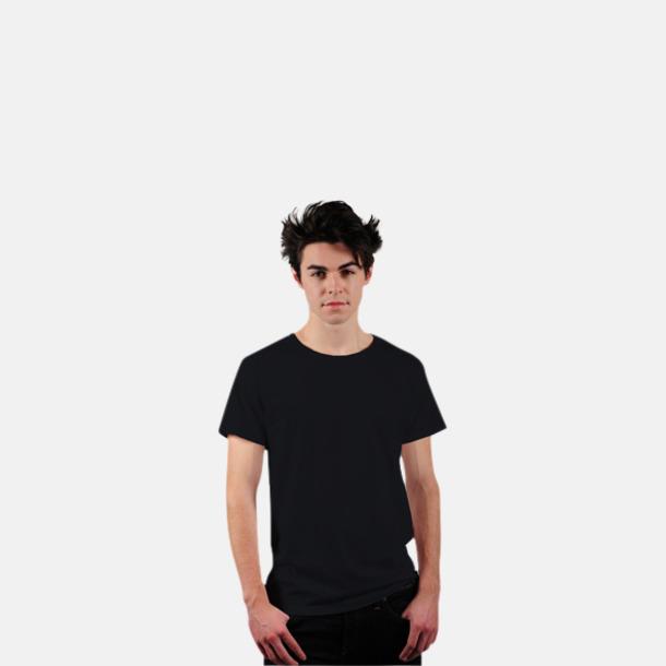 Svart Eko t-shirts i Fairtrade-bomull med reklamtryck