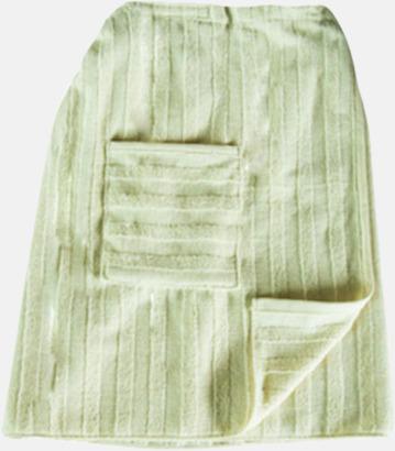 Beige Handdukar speciellt för bastubadande - med brodyr