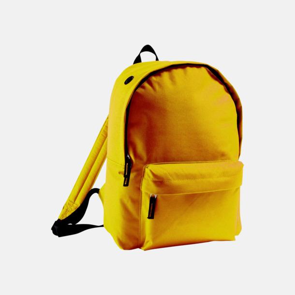 Gold Billiga ryggsäckar med ege tryck