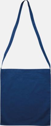 Dark Royal Blue Färgglada bomullskassar med reklamtryck i slingmodell