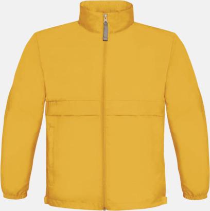Gold (barn) Vind- och vattentäta jackor för dam, herr och barn - med tryck