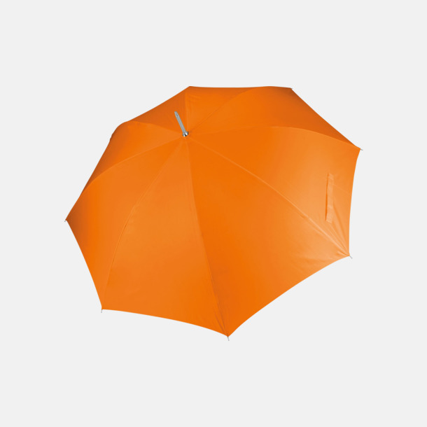Orange Tvåfärgade golfparaplyer med reklamtryck